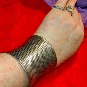 Wide vintage gold bracelet